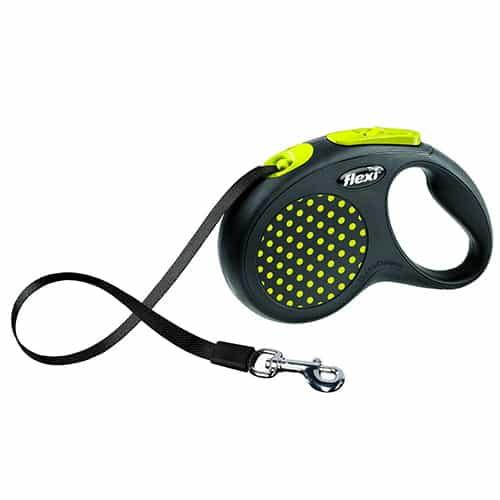 Поводок-рулетка для собак Flexi Design M/L 5 м ремень желтый