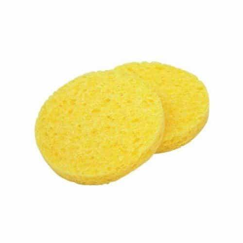 Спонж Dewal Beauty для снятия макияжа желтый 85x85x10 мм 2 шт CE-8510